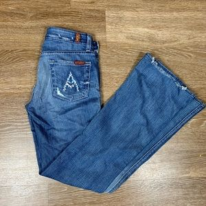 7 for all mankind jeans A pocket flare size 25